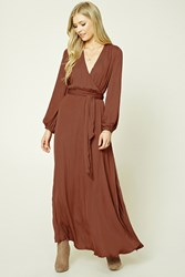 Forever 21 Belted Surplice Maxi Dress