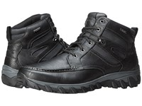 Rockport Cold Springs Plus Mocc Toe Boot High 7 Eyelets Black Leather Men's Boots