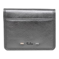 Tula Violet Leather Small Card Holder Silver