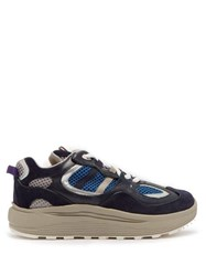 Eytys Jet Turbo Leather And Suede Trainers Blue