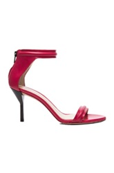 3.1 Phillip Lim Martini Mid Heel Leather Sandals In Red