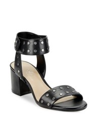 424 Fifth Harrow Studded Leather Open Toe Sandals Cobblestone
