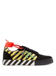 Off White Odsy 1000 Low Top Suede Trainers Black Multi