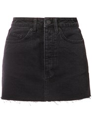 Ksubi Denim Mini Skirt Women Cotton 24 Black