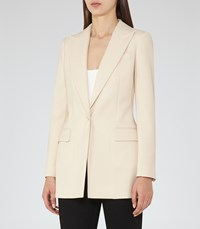 Reiss Oxley Womens Longline Single Breasted Blazer In Brown