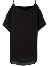 Michael Michael Kors Draped Off Shoulder Blouse Black