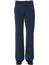 Balenciaga Tailored Wool Blend Pants Blue