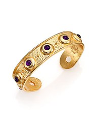 Stephanie Kantis Balance Light Amethyst Cuff Bracelet Yellow