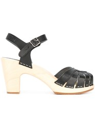 Swedish Hasbeens 'Fredrica' Sandals Black