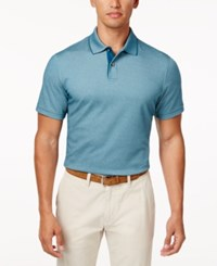 Tasso Elba Men's Classic Fit Supima Blend Cotton Polo Only At Macy's Blue Gem