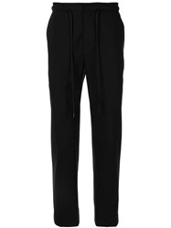 Juun.J Drawstring Trousers Black