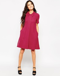 Traffic People Preppy Loves Audrey Coat Dress Maroon