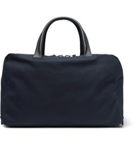 Alvaro 47 Leather Trimmed Canvas Holdall Blue