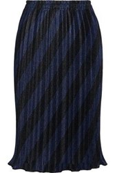 Alexander Wang Pleated Striped Mesh Skirt Multicolor
