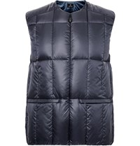 Snow Peak Middler Quilted Shell Down Gilet Blue