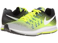 Nike Air Zoom Pegasus 33 Matte Silver White Volt Black Women's Running Shoes Yellow