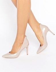 Ted Baker Saviy Nude Leather Courts Mink Bow Leather Beige