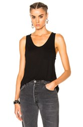 Alexander Wang T By Classic Rayon Tank Top In Black