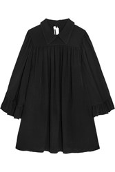 Mcq By Alexander Mcqueen Crepe De Chine Mini Dress Black