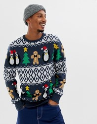 Another Influence Christmas Gingerbread Jumper Black