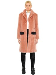 Shrimps Faux Fur Coat With Contrast Trim