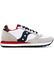 Saucony Lace Up Trainers Men Leather Suede Polyester Rubber 40 White