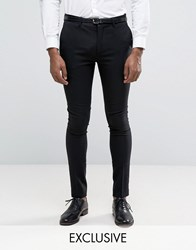Only And Sons Super Skinny Tuxedo Trousers Black