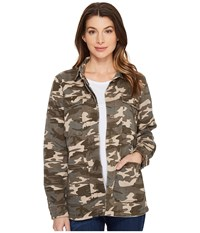 Jag Jeans Autumn Jacket In Olive Camo Twill Olive Women's Coat