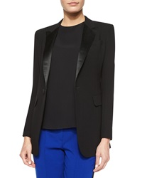 Adam By Adam Lippes Long Sleeve Tuxedo Blazer Black