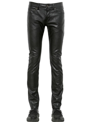 Saint Laurent 17.5Cm Slim Faux Leather Jeans Black