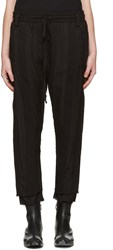 Haider Ackermann Black Polonium Lounge Pants