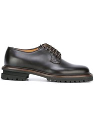 Premiata Ridged Sole Derby Shoes Brown