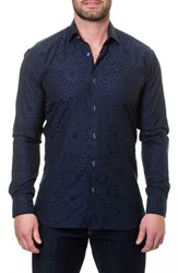 Maceoo Wall Street Starboy Blue Slim Fit Sport Shirt