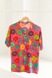Urban Renewal Vintage 90S Pink Floral Short Sleeve Button Down Shirt Assorted