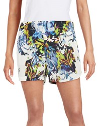 French Connection Floral Shorts White Multi