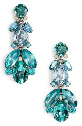 Sorrelli Pine Crystal Drop Earrings Blue Green