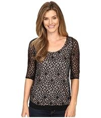 Roper 0430 All Over Lace Tee Black Women's T Shirt