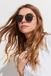 Urban Outfitters Rae Metal Round Sunglasses Black