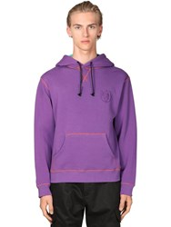 Loewe Eye Nature Cotton Jersey Hoodie Purple