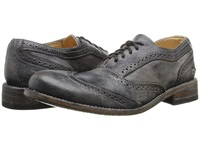 Bed Stu Corsico Black Driftwood Men's Lace Up Wing Tip Shoes Gray