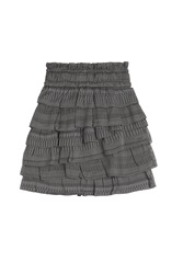 Iro Delia Silk Cotton Mini Skirt Grey