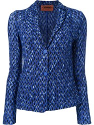 Missoni Two Button Blazer Blue