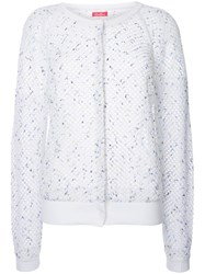 Coohem Summer Mesh Knitted Cardigan White