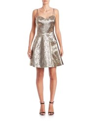 Phoebe Couture Jacquard Cocktail Dress