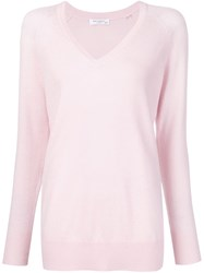 Equipment V Neck Sweater Pink And Purple
