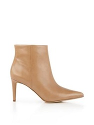 Sam Edelman Karen Pointed Toe High Heel Ankle Boots Beige
