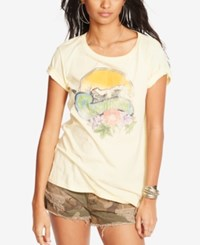 Denim And Supply Ralph Lauren Drapey Cotton Graphic T Shirt White