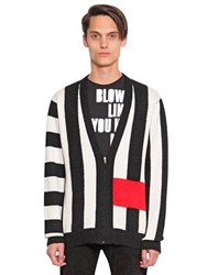 House Of Holland Piwnage Striped Wool Cardigan