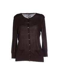 Maliparmi Knitwear Cardigans Women Dark Brown