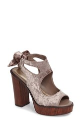 Very Volatile Women's Kimbra Cutout Ankle Tie Sandal Taupe